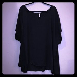 Xhilaration Black Flowy Blouse - Size 4X